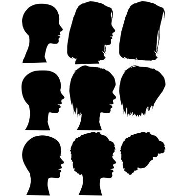 Hair Style Beauty Salon Profiles Vector