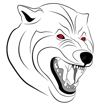 Wolf Tattoo Vector. Artist: flanker-d; File type: Vector EPS