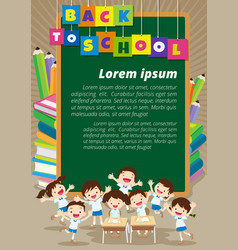 back to school with happy pupil vector image