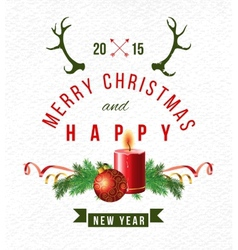 Christmas background with type design vector image vector image