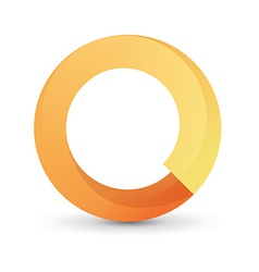 Orange tape round form vector image vector image