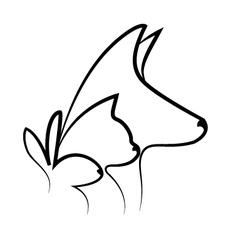 Pets heads logo vector image vector image