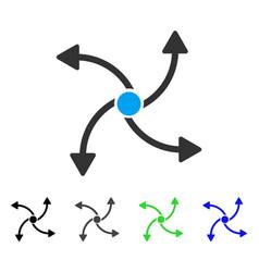 Swirl direction flat icon vector