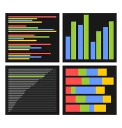 Benchmark Bars and Indicators Set vector image vector image
