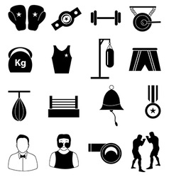 Boxing icons set vector image vector image