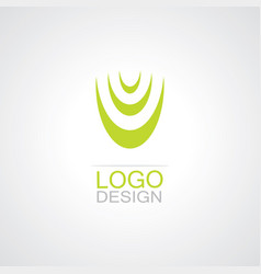 letter u shape logo vector image