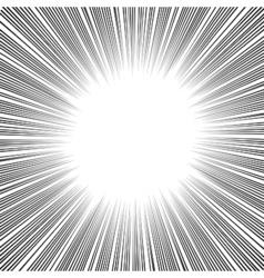 Manga Comics Radial Speed Lines vector image vector image