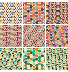 Retro Geometric Patterns vector image