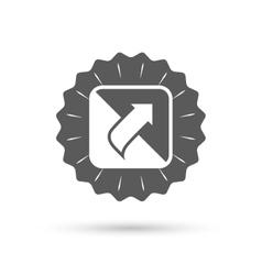 Turn page sign icon Peel back sheet corner vector image