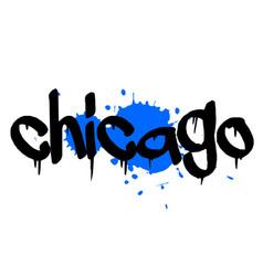 Chicago sticker stamp vector