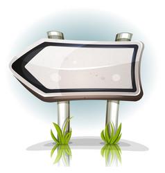 comic road sign arrow vector image vector image