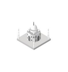 isolated taj mahal isometric india mosque vector image