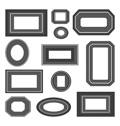 Set of black and white frames vector image vector image