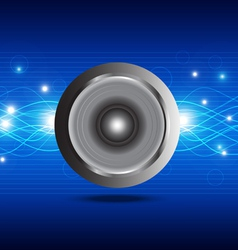 sound wave from speaker vector image vector image