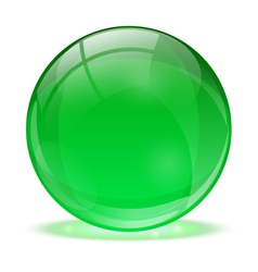 3D glass sphere vector image