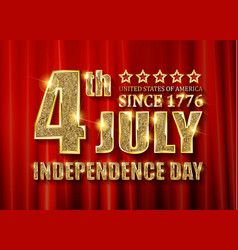 4th of july independence day banner vector image
