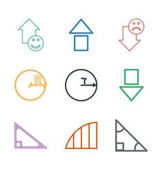 9 angle icons vector