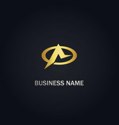 a initial business logo vector image