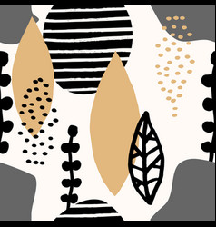 Abstract collage pattern vector