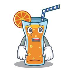 afraid cocktail character cartoon style vector image