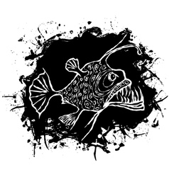 Angler fish design vector image
