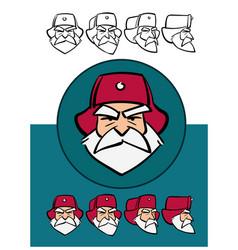 angry russian santa claus cartoon style vector image