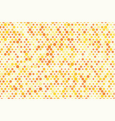 background composition of orange polka dots vector image