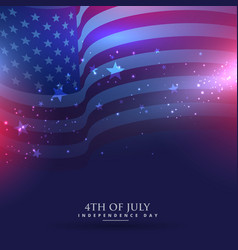 beautiful american flag background vector image