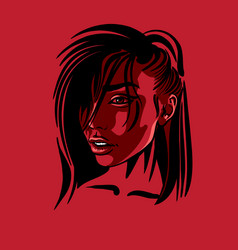 beautiful girl portrait vector image