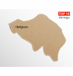 belgium map on craft paper texture template for vector image