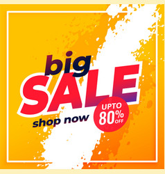 Big sale shopping disount template banner design vector
