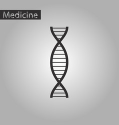 black and white style icon of dna vector image