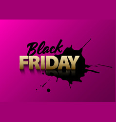 Black friday text on pink background vector