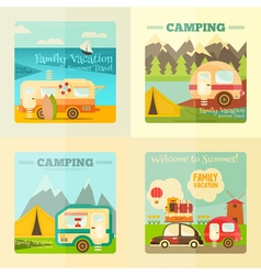caravan set vector image