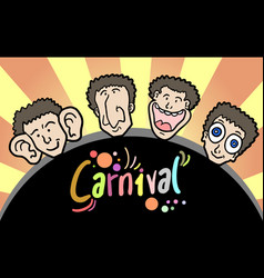 carnival faces vector image