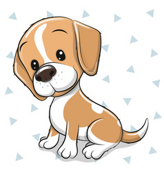 Cartoon dog beagle on a white background vector