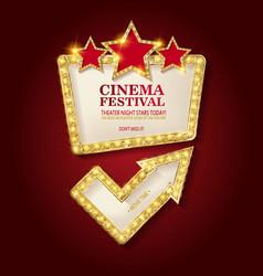 Cinema festival theater sign vector