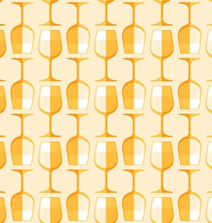 colored white wine glass seamless pattern vector image