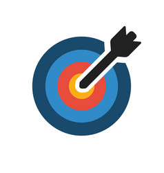 colorful target icon target with arrow on blank vector image