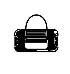contour sport bag to save the clohes vector image