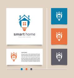 creative idea and modern concept smart home logo vector image