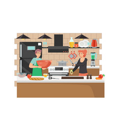 Culinary blog flat style design vector
