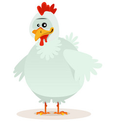 Cute chicken character vector