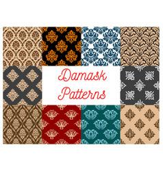 Damask seamless floral pattern background vector