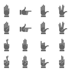 dark hand signs collection vector image