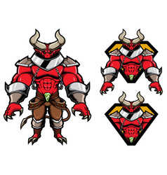 demon fantasy mascot vector image
