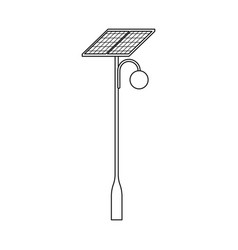 Design lamppost and solar icon set of vector