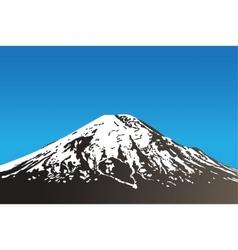 Dormant volcano vector