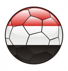 Egypt flag on soccer ball vector