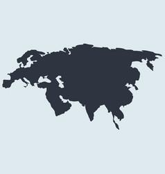 Eurasia map logo icon europe and asia simple vector